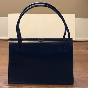 1950s vintage top handle handbag